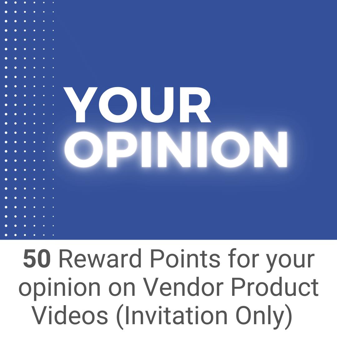 Provide Your Opinion - Earn Reward